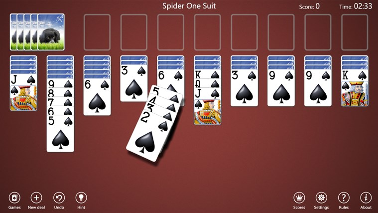 Spider Solitaire Collection Free screen shot 3