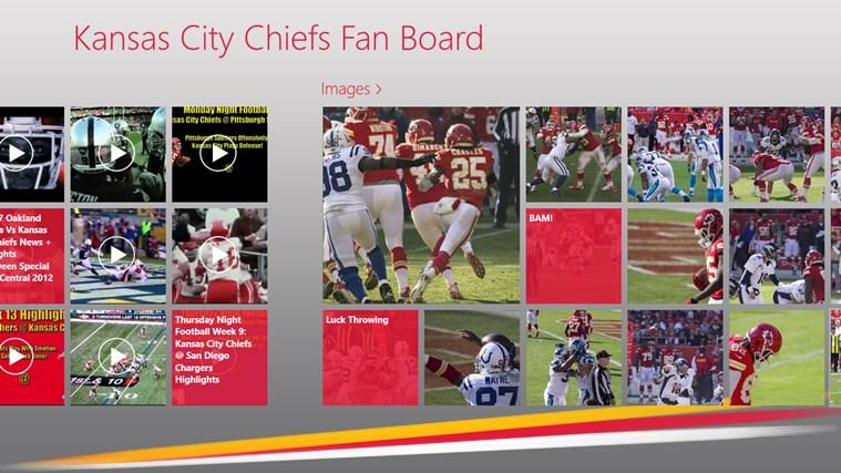 Kansas City Chiefs Fan Board screen shot 1