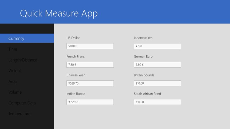 Quick Measure App screen shot 1