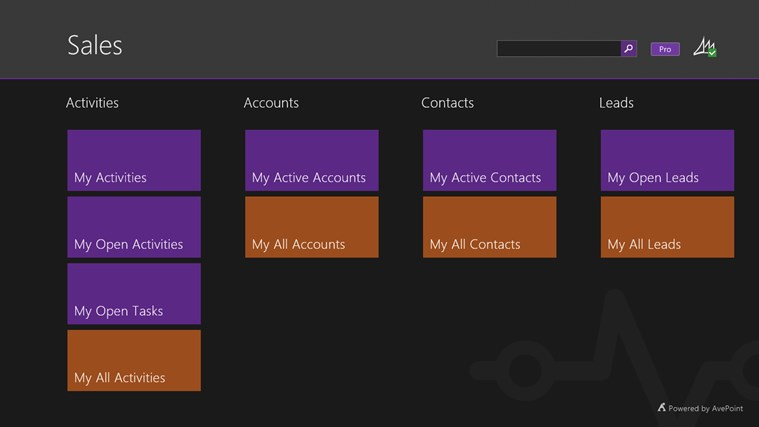 AvePoint Timeline for Microsoft® Dynamics CRM screen shot 1