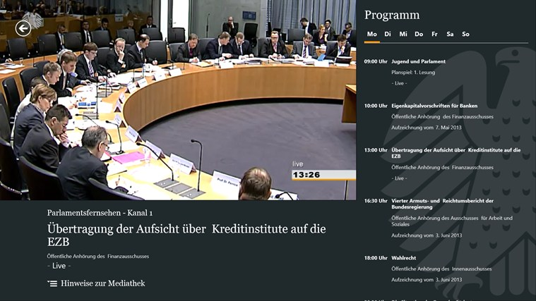 Deutscher Bundestag screen shot 3
