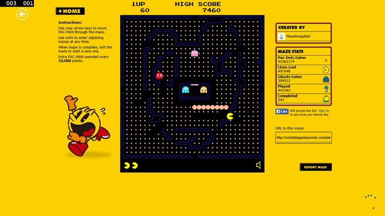 Pacman Infinity HD screen shot 1