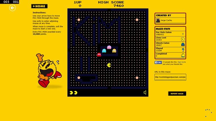Pacman Infinity HD screen shot 3