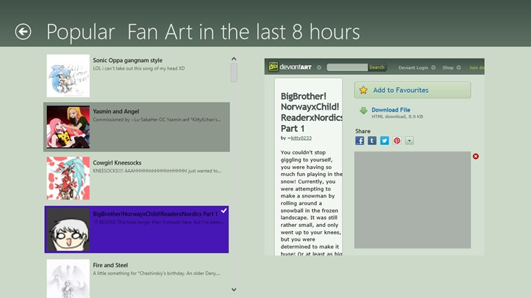 deviantART screen shot 1