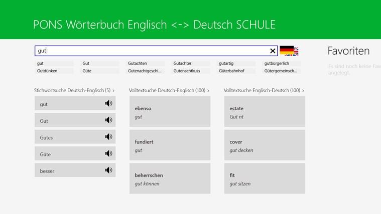 Wörterbuch Englisch <-> Deutsch SCHULE von PONS Screenshot 1