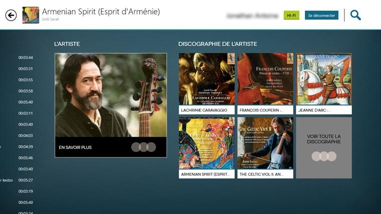 Qobuz capture d'écran 1