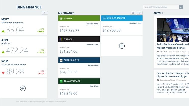 Bing Finance screen shot 3