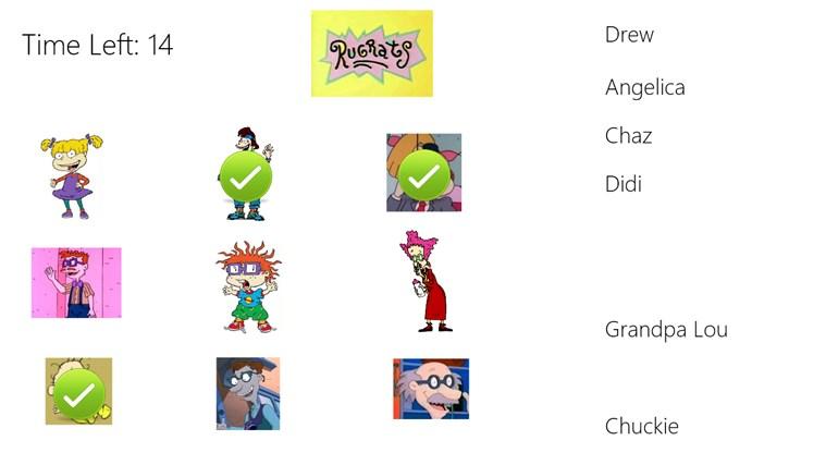 Rugrats Character Match Up Up Characters Names