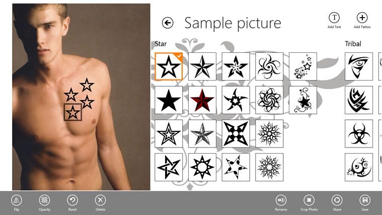 Tattoo Tester screen shot 1