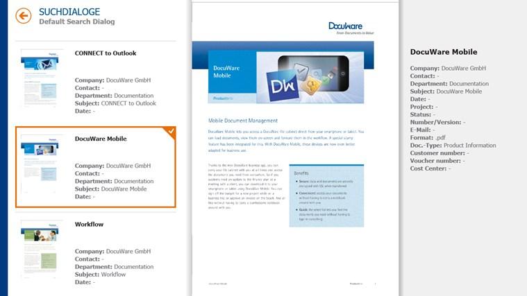 DocuWare Mobile Screenshot 1