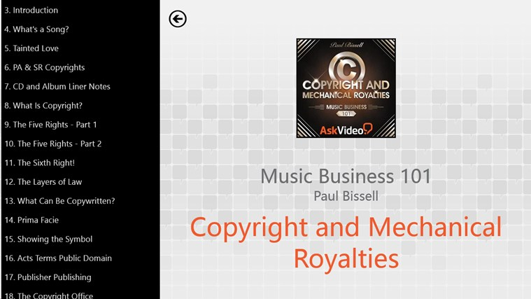 Music Business: Copyright and Royalties Screenshot 1