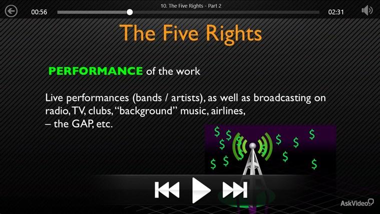 Music Business: Copyright and Royalties Screenshot 3