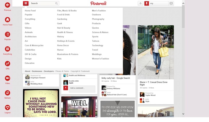 PinterestHD screen shot 3