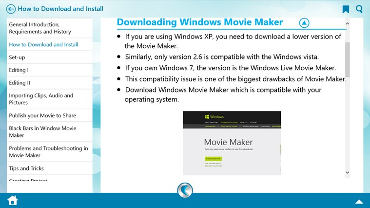 Learn Windows Movie Maker by WAGmob screen shot 1
