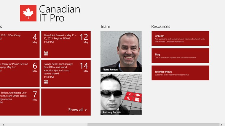 Canadian IT Pro Connection screen shot 1