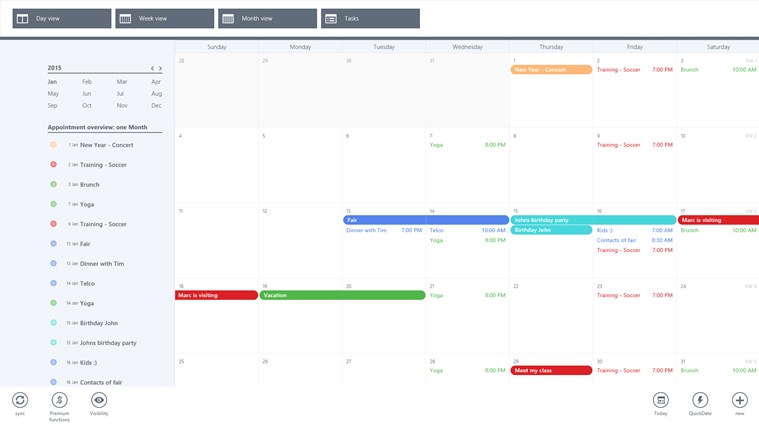 gmail calendar screen shot 1
