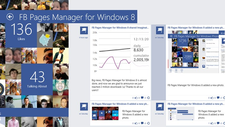 FB Pages Manager screen shot 1