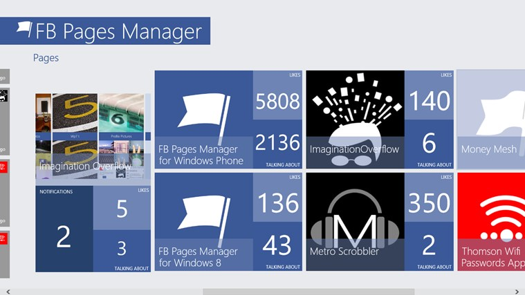 FB Pages Manager screen shot 3