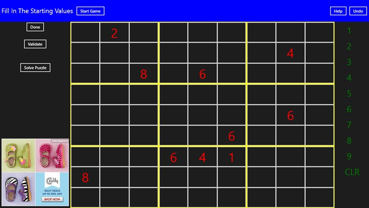 Complete Sudoku screen shot 5