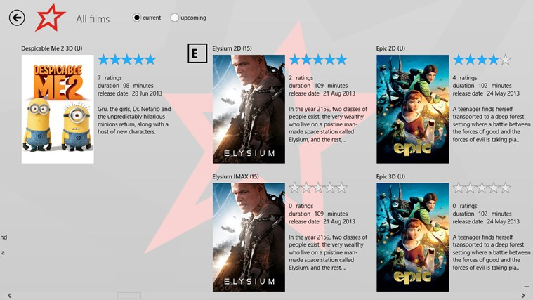 Cineworld Unofficial screen shot 1