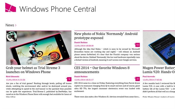 Windows Phone Central screen shot 1