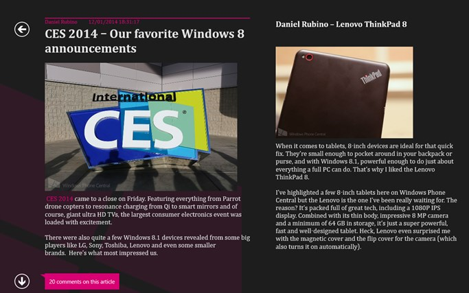 Windows Phone Central screen shot 3