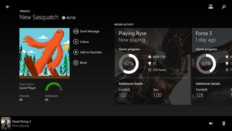 Xbox One SmartGlass screen shot 3