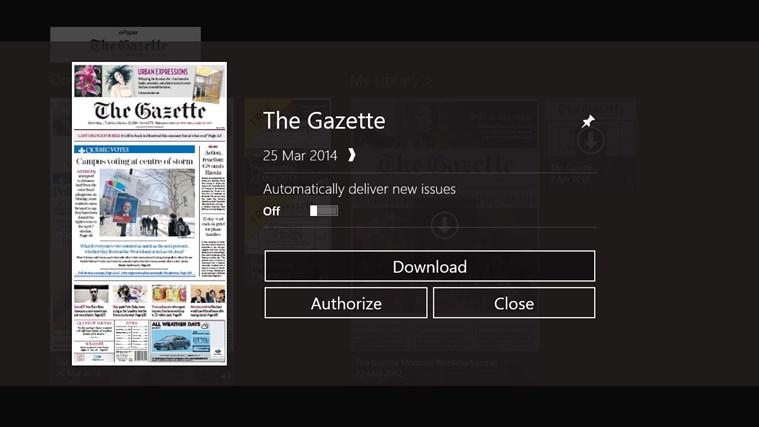 The Gazette ePaper capture d'écran 1
