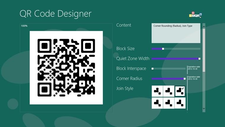 QR Code Designer screen shot 3