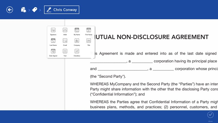 DocuSign screen shot 7
