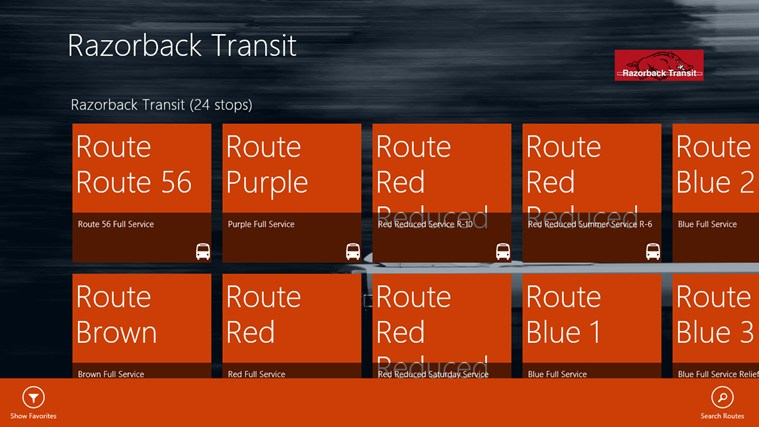 Razorback Transit screen shot 1