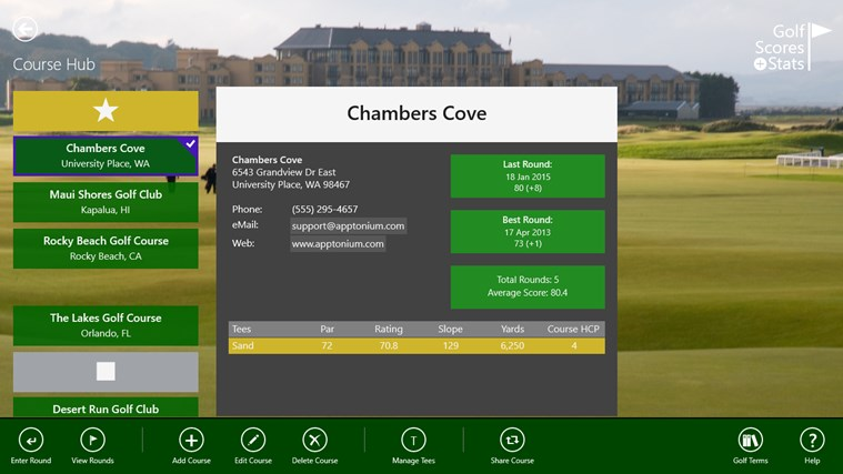 Golf Scores + Stats screen shot 3