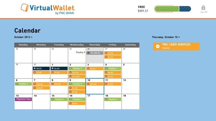 Virtual Wallet by PNC Bank screen shot 1