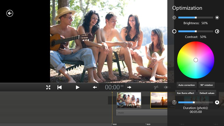 Movie Edit Touch (for Movie Edit Pro Customers) screen shot 3