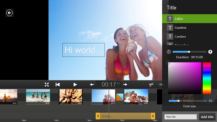 Movie Edit Touch (for Movie Edit Pro Customers) screen shot 5