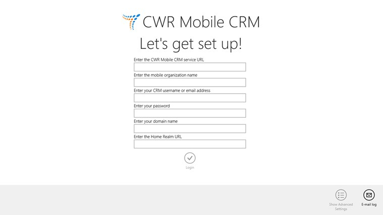 CWR Mobile CRM screen shot 3
