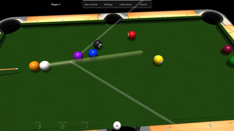 Billiards HD screen shot 5