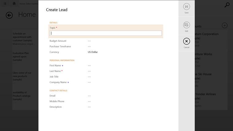 Microsoft Dynamics CRM screen shot 3