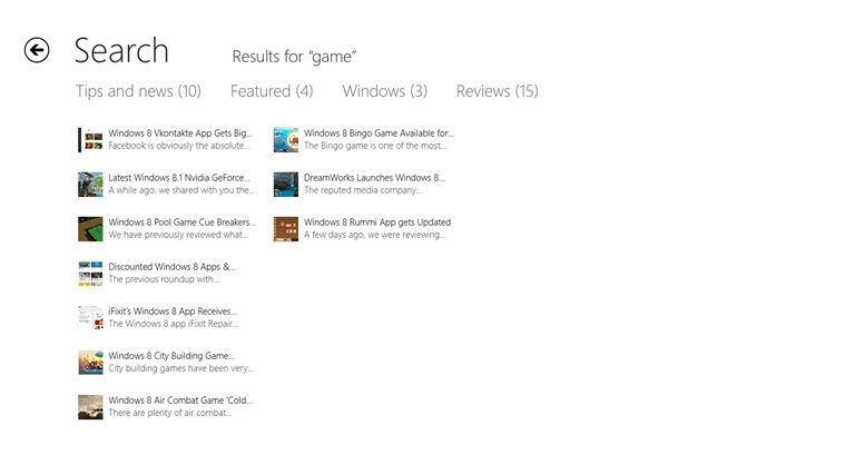 Windows Store App Review screen shot 7