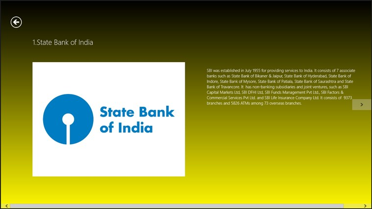 Top 10 banks in India screen shot 1