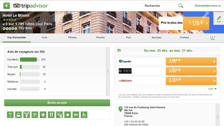 TripAdvisor Hotels Flights Restaurants capture d'écran 3