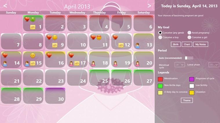 Fertility Calendar gabháil scáileáin 1