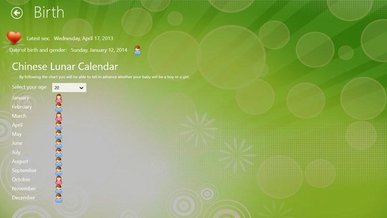 Fertility Calendar gabháil scáileáin 3