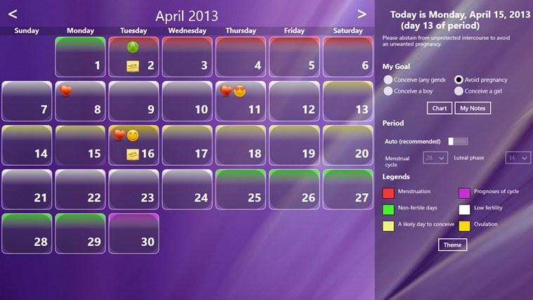 Fertility Calendar gabháil scáileáin 5