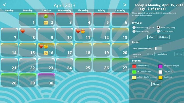 Fertility Calendar gabháil scáileáin 7