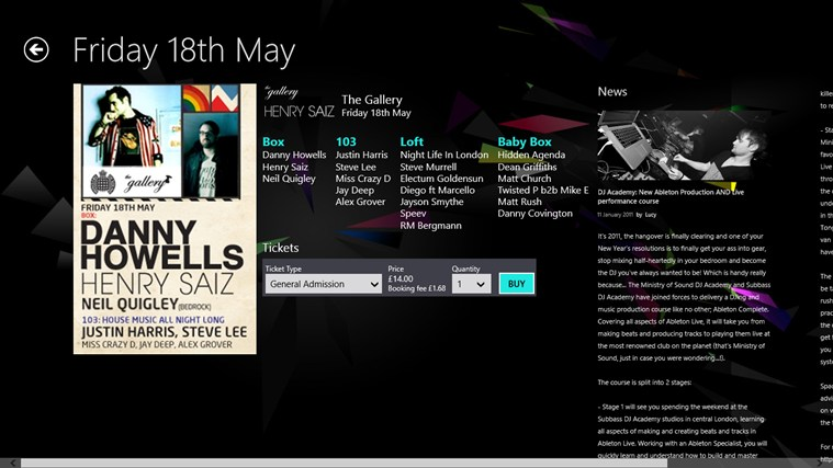 Ministry of Sound screen shot 3