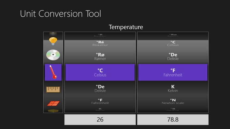 Unit Conversion Tool screen shot 1