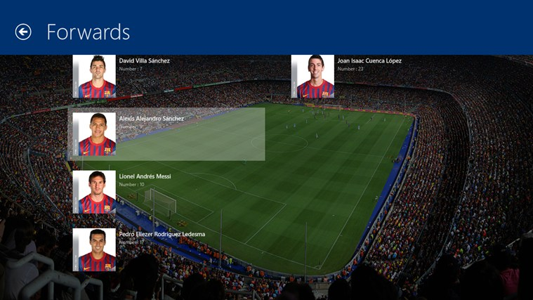 FC Barcelona screenshot 1