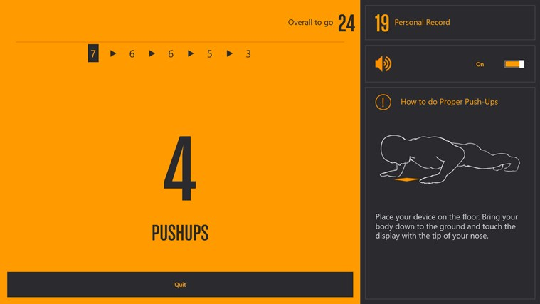 Runtastic PushUps PRO screen shot 1