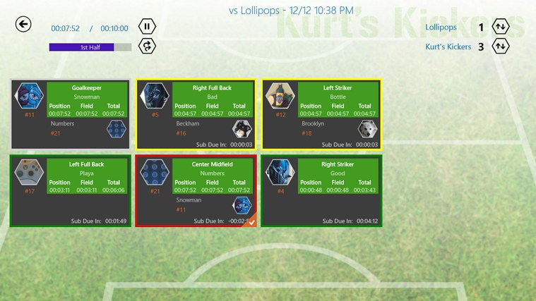 Game Manager - Soccer screen shot 1